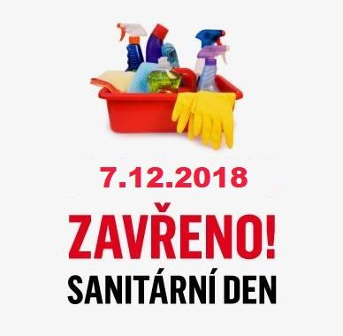 Upozornění na sanitární den